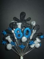 Mechanic 80th birthday cake topper decoration - free postage